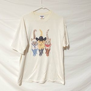 Vintage double Sided Cat T-shirt